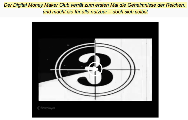 Video Sales Letter Digital Money Maker Club