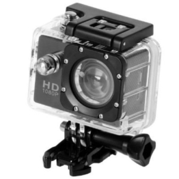 QUMOX Actioncam SJ4000, Action Sport Kamera Camera Waterproof, Full HD, 1080p Video, Helmkamera, Schwarz - 1