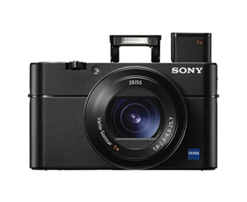 Sony DSC-RX100 V Digitalkamera (Stacked Exmor RS CMOS Sensor, 40-fach Super-Zeitlupe, 4K Video, Anti-Distortion Verschluss, 24-70 mm zeiss Vario-Sonnar T) schwarz -